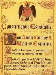 Constitución Española original (con el Águila de San Juan)